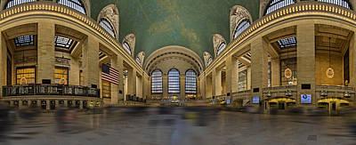 Photograph - Grand Central Terminal 180 Panorama  by Susan Candelario