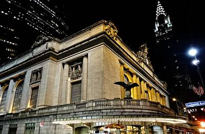 Streetlight Photograph - Grand Central Terminal At Night by Dan Sproul