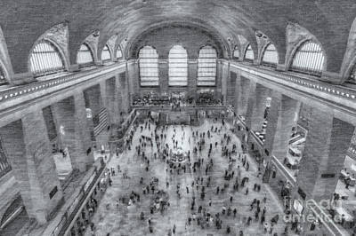Photograph - Grand Central Terminal Main Concourse II by Clarence Holmes