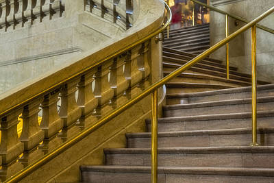 Photograph - Grand Central Terminal Staircase by Susan Candelario