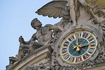 Photograph - Grand Central Terminal Tiffany Clock by Susan Candelario