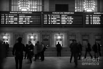 Photograph - Grand Central Ticket Counter by Miriam Danar