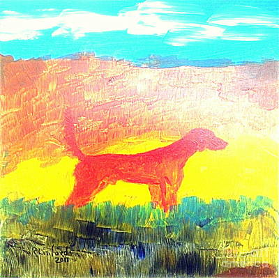 Painting - Grand Champion English Red Setter 1 by Richard W Linford
