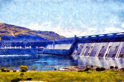 Digital Art - Grand Coulee Dam by Kaylee Mason
