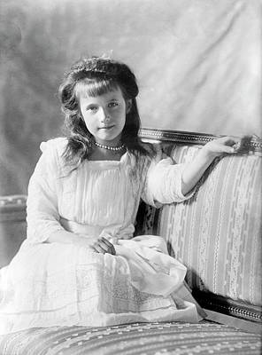 Grand Duchess Anastasia Of Russia Print by Library Of Congress