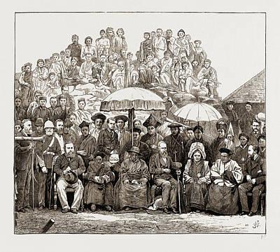 Grand Durbar At Darjeeling, India. Visit Of The Lieut Art Print
