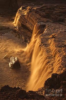 A Summer Evening Photograph - Grand Falls by Priscilla Burgers