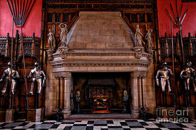 Photograph - Grand Fireplace by Kate Purdy