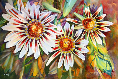 Fineartamerica.com Painting - Grand Gazanias by Mohamed Hirji
