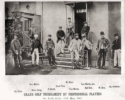 Photograph - Grand Golf Tournament Byprofessional Players 17th May 1867 by Unknown