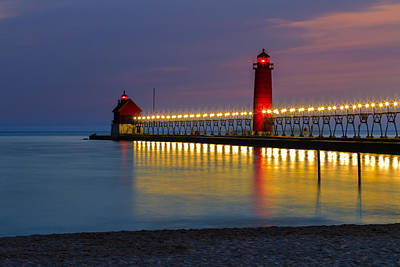 Photograph - Grand Haven South Pier Lighthouse by Jack R Perry