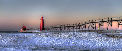 Grand Haven Photograph - Grand Haven Winter Panorama by Twenty Two North Photography