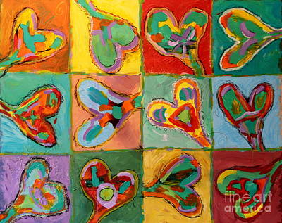 Painting - Grand Hearts by Kelly Athena