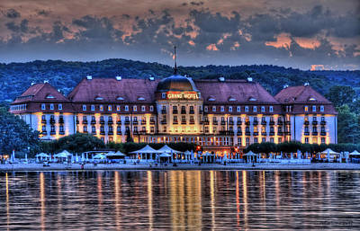 Bear Photography - Grand Hotel in Sopot Viewed from the Pier by Julis Simo