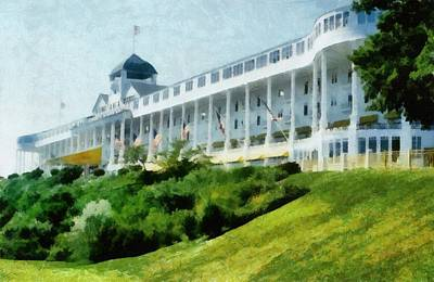 Transportation Royalty-Free and Rights-Managed Images - Grand Hotel Mackinac Island ll by Michelle Calkins