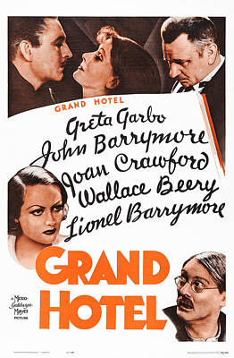 Grand Hotel, Us Poster, Top From Left Art Print by Everett