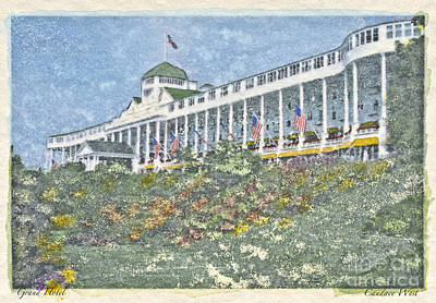 Grand Hotel - Watercolor Original by Candace West