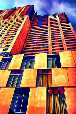 Digital Art - Grand Hyatt San Antonio by Wendy J St Christopher