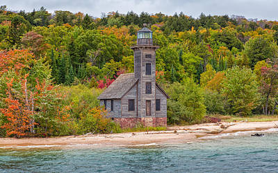 Photograph - Grand Island Harbor Lighthouse by John M Bailey