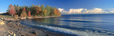 Autumn Leaf Photograph - Grand Islands National Recreation Area by Panoramic Images