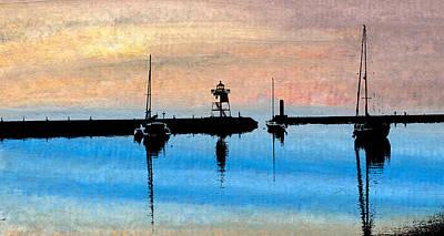 Grand Marais Harbor Art Print