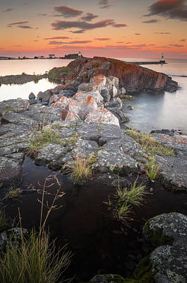 Photograph - Grand Marais Harbor by Thomas Pettengill