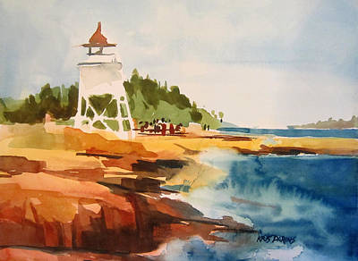 Port Town Painting - Grand Marais by Kris Parins