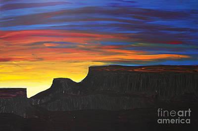 Grand Mesa Sunrise Art Print by Sarah Mah