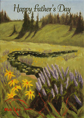 Painting - Grand Mesa Wildflowers Card by Ruth Soller