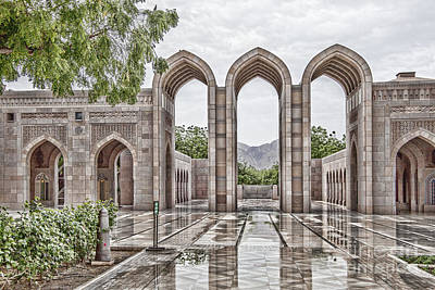 Photograph - Grand Mosque Oman by Shirley Mangini