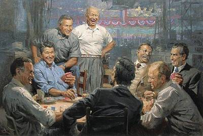George Bush Digital Art - Grand Ol Gang by Andy Thomas
