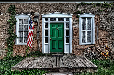 Photograph - Grand Old Flag And Porch by Ken Smith