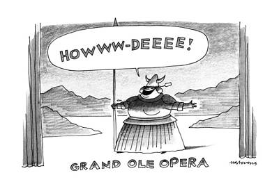 Worn Drawing - Grand Ole Opera by Mick Stevens