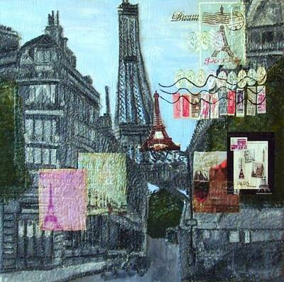 Painting - Grand Ole Paris-postcard From Paris by Leslye Miller
