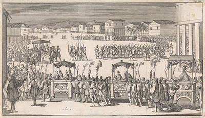 Philippines Drawing - Grand Parade To Mark The Arrival Of Captain Charles Swan by Caspar Luyken And Abraham De Hondt