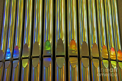 Photograph - Grand Pipe Organ Reflections by Cindy Lee Longhini