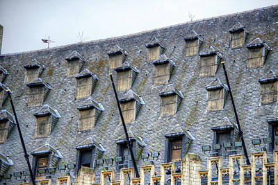Photograph - Grand Place Rooftop Windows by Deborah Smolinske