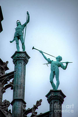 Photograph - Grand Place Statuary by Deborah Smolinske