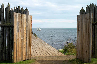 Voyageurs Photograph - Grand Portage Footpath With A Replica by David R. Frazier