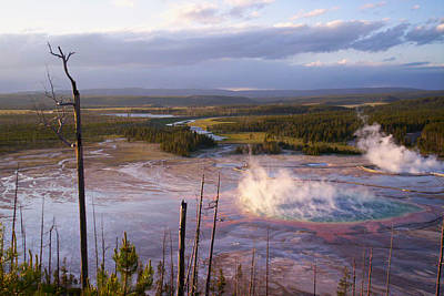 Art Print featuring the photograph Grand Prismatic At Dusk by Jon Emery