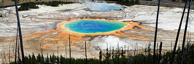 Yellowstone National Park Photograph - Grand Prismatic Spring Panorama by Benjamin DeHaven