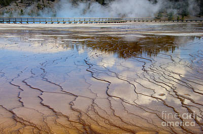 Photograph - Grand Prismatic Runoff - Yellowstone by Sandra Bronstein