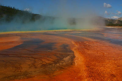 Photograph - Grand Prismatic Smoke Bomb 1 by Jon Emery