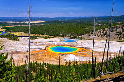 Photograph - Grand Prismatic Spring 2013 by Greg Norrell