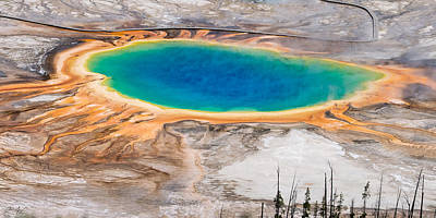 Photograph - Grand Prismatic Spring by Aaron Spong