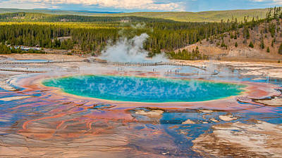 Photograph - Grand Prismatic Spring by Brenda Jacobs