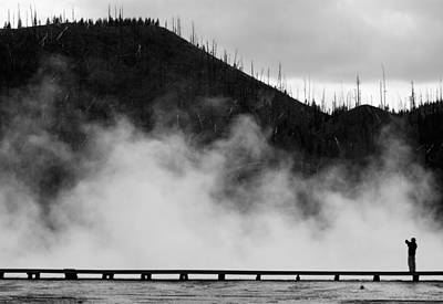 Photograph - Grand Prismatic Spring by Daniel Woodrum