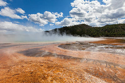 Photograph - Grand Prismatic Spring by Fran Riley