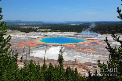 Photograph - Grand Prismatic Spring From Above by Debra Thompson