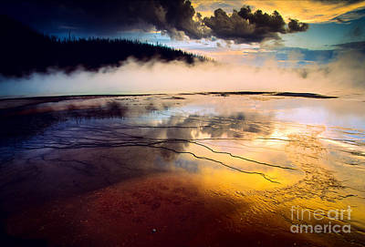 Geothermal Photograph - Grand Prismatic Spring by Inge Johnsson